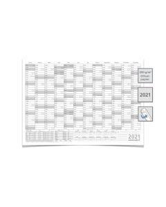 WANDKALENDER/2021 MIT FERIEN DIN A0 118,8 X 84,0 CM GEROLLT GRAU premium Qualität