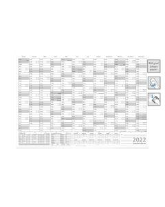 JAHRESPLANER -- 2022 --  DIN A1 grau 84,0 X 59,4 cm 250g/m2 abwischbar