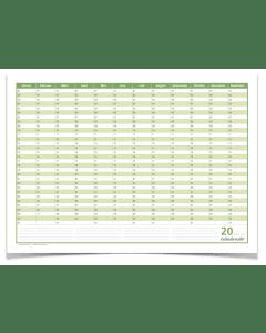 Dauerkalender, Familienkalender, Geburtstagskalender, immerwährender Kalender, DIN A3 , 250 gr. Premium Qualitätspapier, feucht abwischbar, praktisch und schön