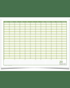 Dauerkalender, Geburtstagskalender, immerwährender Kalender, DIN A2 , 250 gr. Premium Qualitätspapier, feucht abwischbar, praktisch und schön