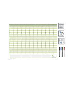 Dauerkalender, Familienkalender, Geburtstagskalender, immerwährender Kalender, DIN A3, 250 gr. Premium Qualitätspapier, feucht abwischbar, mit 4 Markern