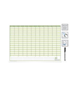 Dauerkalender, Familienkalender, Geburtstagskalender, DIN A3,42,0 x 29,7 cm 250 gr. Premium Qualitätspapier, feucht abwischbar, mit 1 Marker