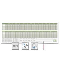 PERSONALPLANER  2021, feucht abwischbar 118,8 X 42,0CM FÜR 16 MITARBEITER 1 Edding non-permanent Marker