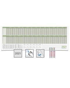 PERSONALPLANER  2021/22, feucht abwischbar 118,8 X 42,0CM FÜR 16 MITARBEITER 4 EDDING non-permanent Marker